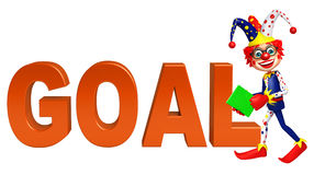 Clown with Goal sign Stock Photo