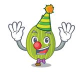 Clown gooseberry mascot cartoon style. Vector illustration Stock Photography