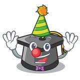 Clown graduation hat mascot cartoon. Vector illustration vector illustration
