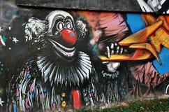 Clown graffitti Royalty Free Stock Photos