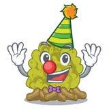 Clown green coral reef toys cartoon shapes. Vector illustration stock illustration