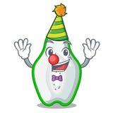 Clown green papaya in the cartoon form. Vector illustration vector illustration
