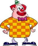 Clown Happy. Color cartoon artwork line-art stock illustration