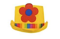 Clown hat front view isolated on white Stock Image