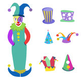 Clown and hats. Illustration vector Royalty Free Stock Photos
