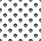 Clown head pattern, simple style Stock Photos