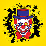 Clown head smile face Royalty Free Stock Photo