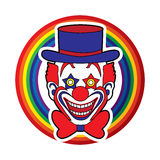 Clown head smile face Stock Image
