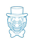 Clown head smile face Royalty Free Stock Image