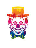 Clown head smile face Royalty Free Stock Photography