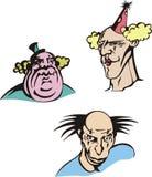 Clown heads Stock Image