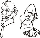 Clown heads Stock Images