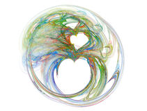 Clown Heart. Fractal heart in mutiples colors stock illustration