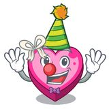 Clown heart box in the cartoon sleep. Vector illustration stock illustration