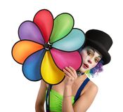 Clown with helix Stock Image