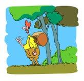 Clown in het bos Royalty-vrije Stock Afbeeldingen