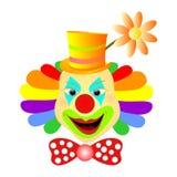 Clown het glimlachen vector illustratie
