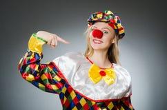 Clown in het grappige concept Stock Afbeeldingen