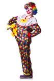 Clown in het kostuum Royalty-vrije Stock Foto's