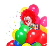 Clown heureux Photographie stock libre de droits