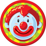 Clown heureux Icon Photographie stock libre de droits