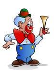 Clown hold horn Royalty Free Stock Photos