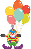 Clown holding balloons. Scalable vectorial image representing a clown holding balloons,  on white Royalty Free Stock Images
