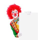 Clown holding the blank Stock Photos