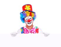 Clown holding the  blank Royalty Free Stock Image