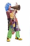 Clown holding sign Royalty Free Stock Photography