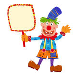 Clown Holding Sign Stock Images