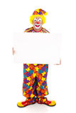 Clown Holds Sign - Full Body Stock Photos
