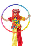 Clown through the Hoop Royalty Free Stock Image