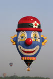 Clown Hot Air Balloon Stock Image