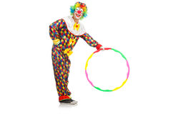 Clown with hula hoop Stock Photos