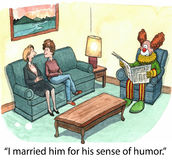Clown husband Royalty Free Stock Image