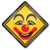 Clown i ett sjukhus Fotografering för Bildbyråer