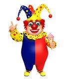 Clown with Icecream Stock Photos