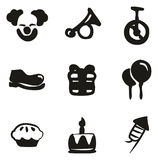 Clown Icons Freehand Fill Royalty Free Stock Photography