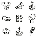 Clown Icons Freehand Royalty Free Stock Image