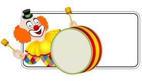 Clown il batterista Fotografie Stock Libere da Diritti