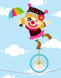 Clown. Illustration of a cute clown Stock Photography