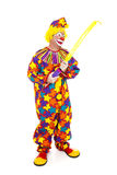 Clown Inflates Balloon Animal Stock Images