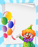 Clown invitation Stock Photography