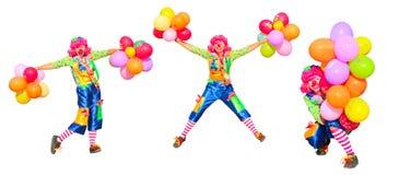 Clown isolated on white Stock Photos
