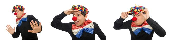 The clown isolated on the white background. Clown isolated on the white background royalty free stock images