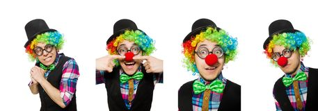 The clown isolated on the white background. Clown isolated on the white background royalty free stock photos