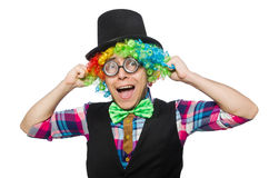 Clown isolated Royalty Free Stock Image