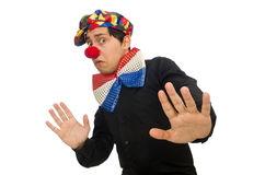 The clown isolated on the white background. Clown isolated on the white background stock image