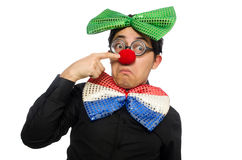 The clown isolated on the white background Royalty Free Stock Photo